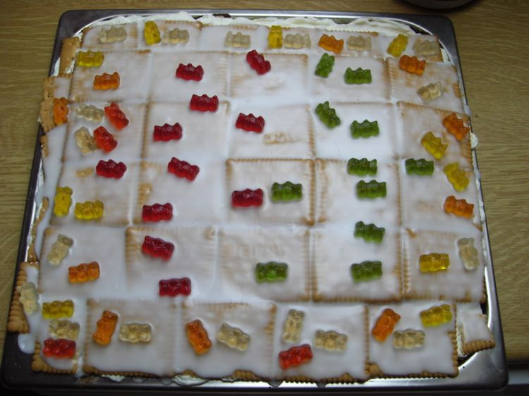 For Kids Zitronen Butterkeks Kuchen Gummibarchen Kuchen Ein
