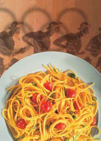 Spaghetti mit Kirschtomaten