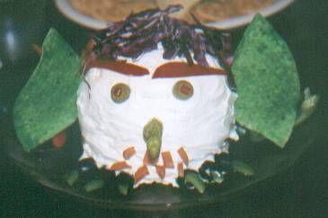 HALLOWEEN: Cheese Ball Goblin