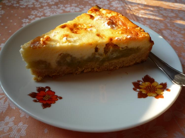 Rhabarber Kuchen Mit Quarkcreme Ein Kochmeister Rezept