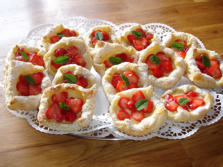 Erdbeer-Vanille-Plunder