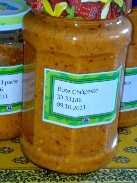 Rote Chilipaste