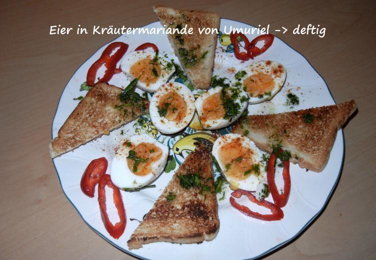 Eier in kr utermarinade ein kochmeister rezept - Eier hart kochen dauer ...