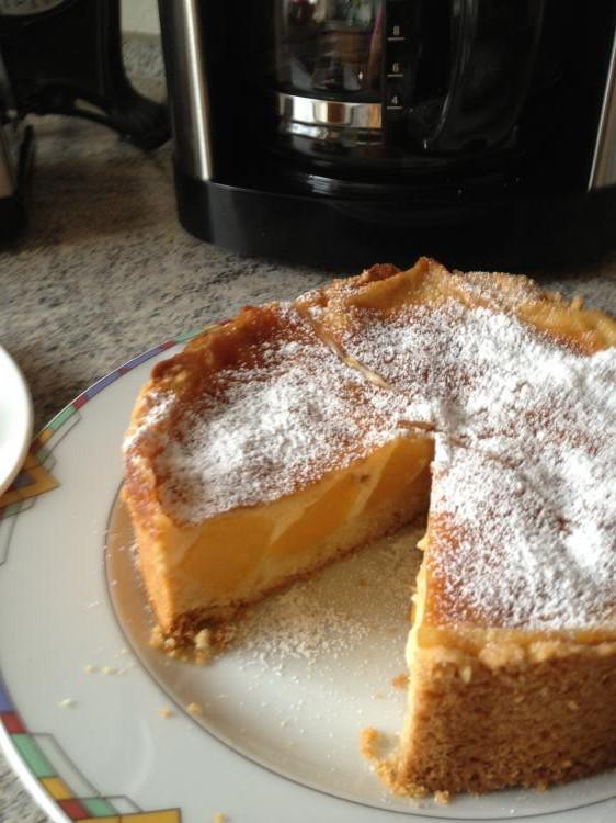 Pfirsich Pudding Kuchen 18 Cm Springform Ein Kochmeister Rezept