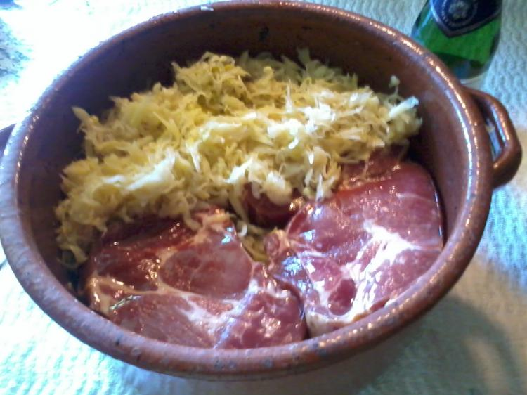 Sauerkrauttopf mit Kasseler