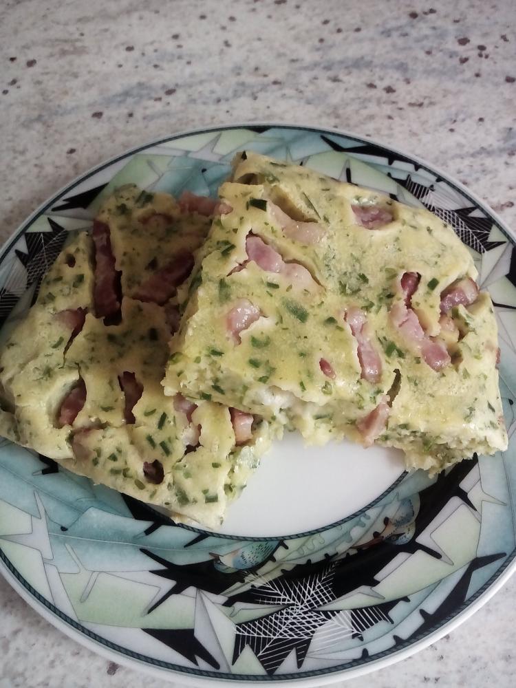 Kräuter-Speck-Pfannkuchen aus dem Ofen