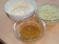 3erlei Aufstriche,Graved Sauce, Meerrettichcreme,Schafskäsecreme
