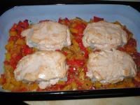 Paprika-Fisch-Auflauf
