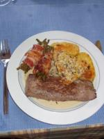 Lammfilet mit Knoblauch-Thymian-Sauce