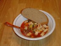 Tomateneintopf mit Huhn
