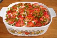 Tiramisu mit Erdbeeren und Rhabarber (GG)