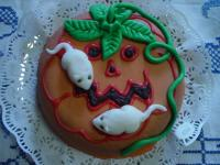 Halloween Kürbis Kuchen