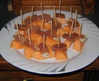 Fingerfood: Melone mit Schinken