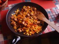 Mexikanische Puten-Gemüse-Pfanne