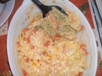 Maultaschen in Tomatensauce überbacken