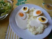 Eier in pikanter Meerrettichsauce