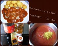 Currywurst  mit Cola-Ketchup-Sauce