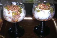 Trauben-Dessert mit Mascarpone