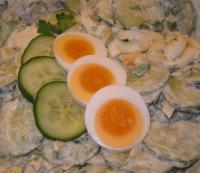 Feiner Gurken-Kartoffelsalat mit Ei