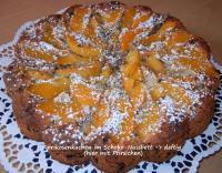 Aprikosenkuchen im Schoko-Nussbett